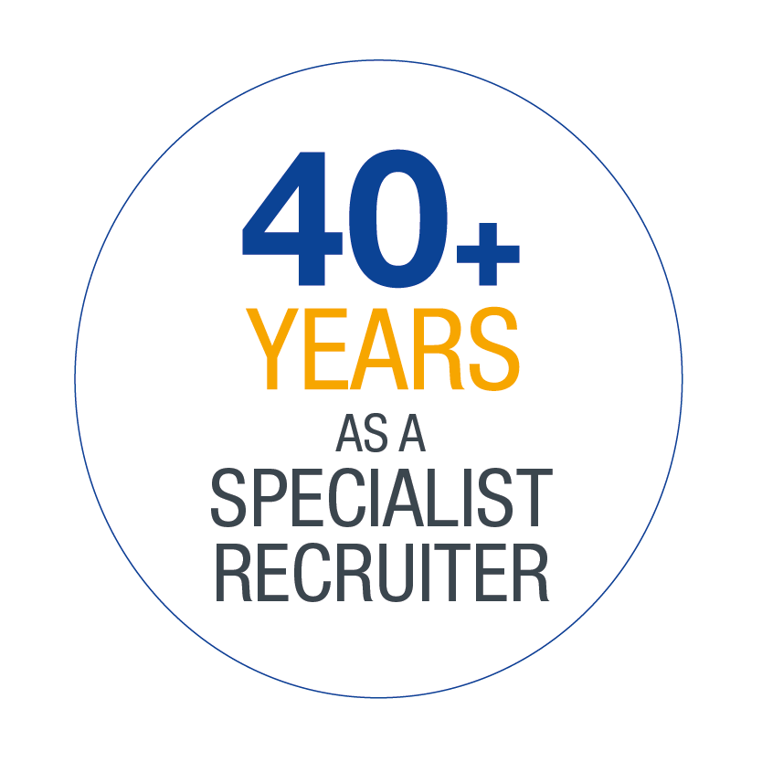 40+ years as a specialist recruiter