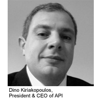 Dino Kiriakopoulos, President & CEO of API